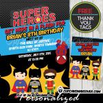 printable comic superhero birthday invitations for kids