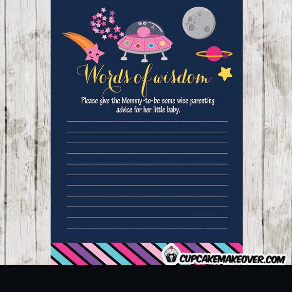 Rocket ship baby shower invitation personalized d3 for Space themed stationery
