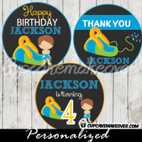 boys water slide party decorations toppers favor tags