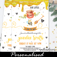 Bumble Bee Baby Shower Invitations Little Honey