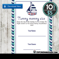 turquoise navy blue nautical baby shower games