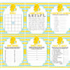 blue yellow rubber duck baby shower games bundle