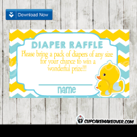 164-Yellow-Blue-Chevron-Rubber-Ducky-Diaper-Raffle-Tickets