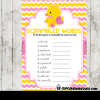 yellow pink girl rubber duck baby shower games