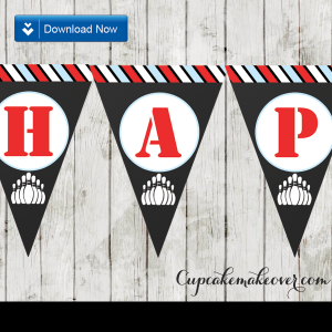 bowling party happy birthday banner for boys