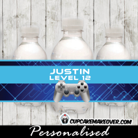 game truck party ideas water bottle labels
