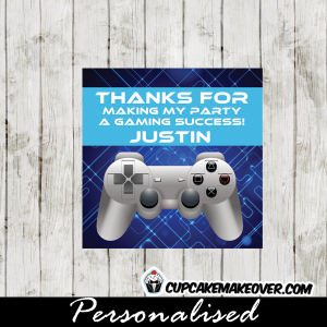 video game thank you cards personalized tags