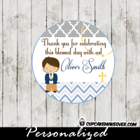 blue grey first communion tags for boys