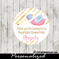 gold foil cinderella princess theme favor tags