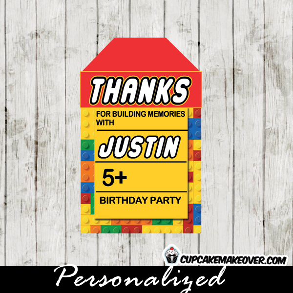printable lego favour tags gifts
