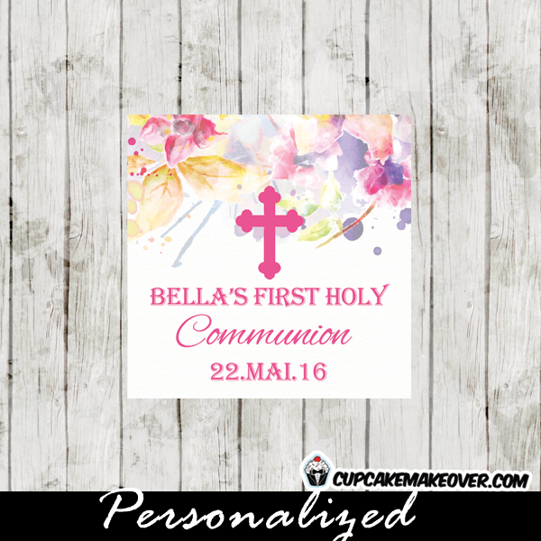 personalized first holy communion labels for girls