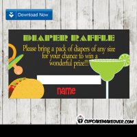 mexican fiesta diaper raffle tickets