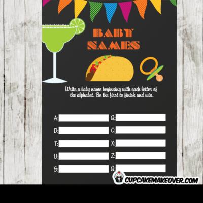 fiesta baby shower games mexican fun ideas tacos margarita
