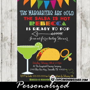 fiesta de baby shower invitations