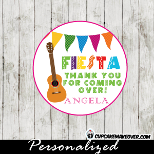 mexican guitar fiesta cupcake toppers