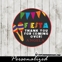 maracas fiesta party favor tags