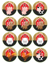 barnwoord farm animals cupcake toppers