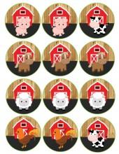 barnwoord farm animals cupcake toppers