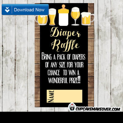 printable beer bbq diaper raffle tickets