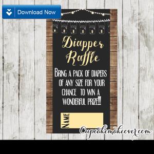 printable backyard bbq diaper raffle tickets
