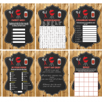 printable bbq baby shower games barn wood
