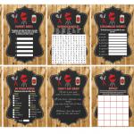 printable bbq baby shower games barn wood