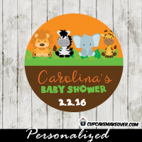 jungle personalized baby shower favor tags