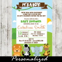 safari invitations for baby shower