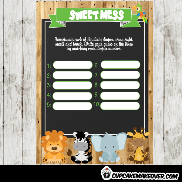jungle theme baby shower games