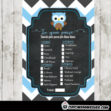 blue owl unique baby shower games