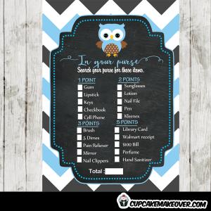 blue owl unique baby shower games
