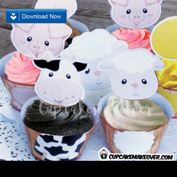 Cupcakes Barnyard, Farm Animals Cupcakes, Animal Cupcakes For Kids, Farm Theme Cupcakes, Farm Cake, Barn Theme Cake, Farm Cupcake Cake