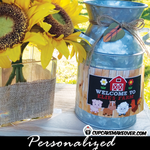 printable custom barnyard farm birthday party labels tags