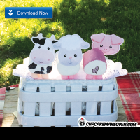 barnyard party ideas marshmallow farm animals toppers