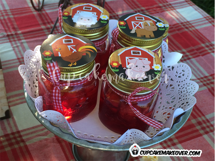 farm jam jars barnyard toppers