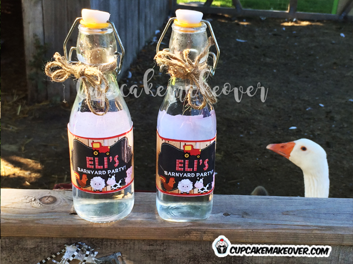 custom farm animals barnyard water bottle labels
