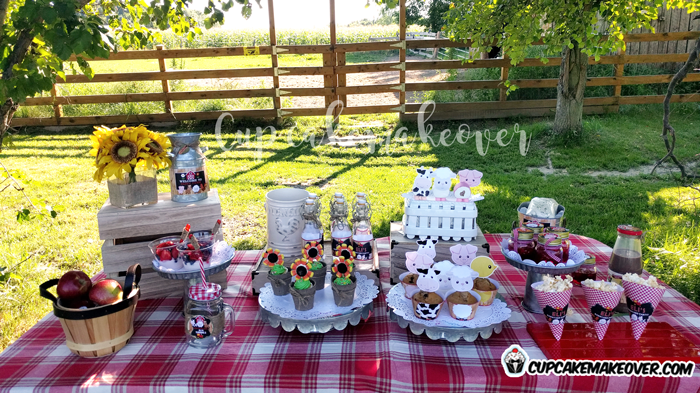 Barnyard Party Ideas Elis Farm Birthday Party Cupcakemakeover