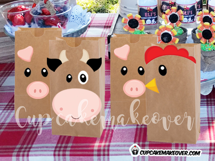barnyard party favors farm animals bag toppers