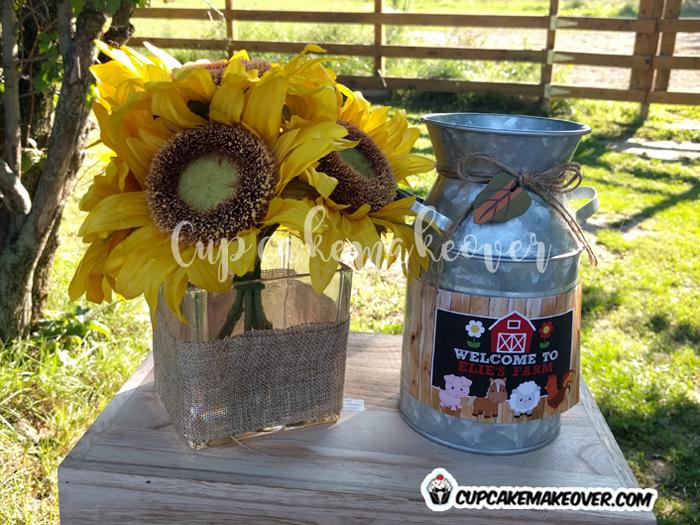 barnyard party food fresh farm milk jug