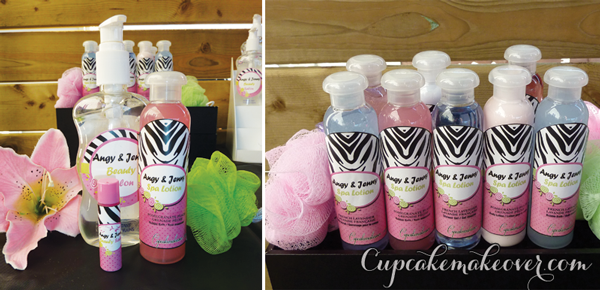 spa themed party favors lotion lip balm