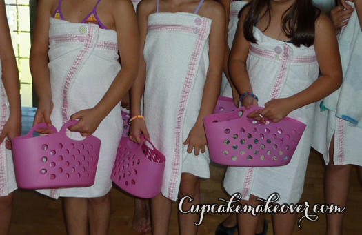 girls robes for spa party