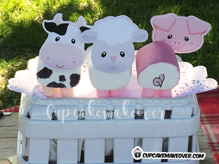 barnyard party ideas farm animals marshmallow