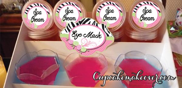spa eye mask cream food ideas