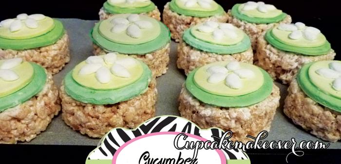 spa food ideas rice krispies cucumber slices