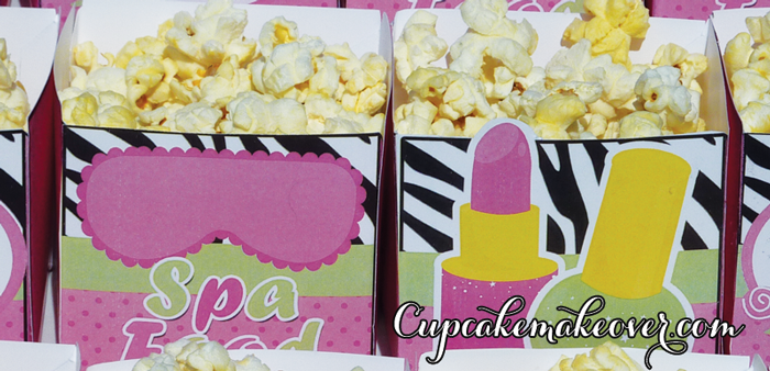 spa theme popcorn box