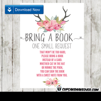 deer antlers pink watercolor floral tulips book request invitation request