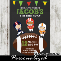 football birthday invitations kids party
