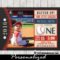 baseball party invitations 1st birthday photo sports theme boys