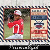 baseball birthday invitations sports party photo invites