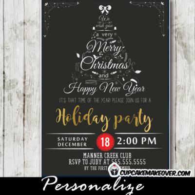 elegant holiday party invitations office company